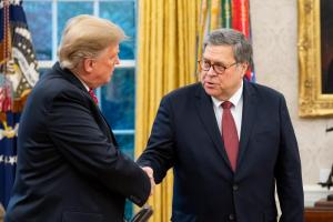 Bill Barr and President Trump